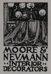 Design for a Sign Moore & Neumann, Interior Decorators.