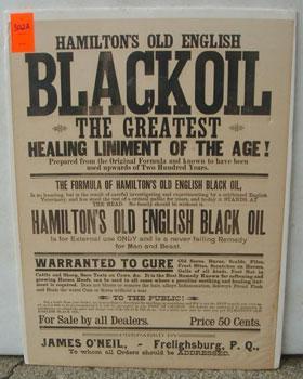 HAMILTON'S OLD ENGLISH BLACK OIL. THE GREATEST HEALING LINIMENT OF THE AGE!: Hamilton.