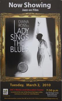 Unique poster for the film Lady Sings the Blues March 2, 2010.