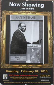 Unique poster for the film Count Basie Jazz Journal Live in '62. Feb. 18, 2010.