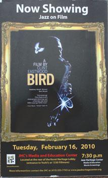 Unique poster for the film Bird. Feb. 16, 2010.