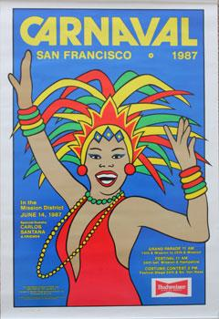 Poster for Carnaval San Francisco 1987.