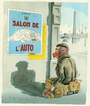 """Clochards de Paris. """"Salon de l'Auto"""".: D'Arcy, A. M."""