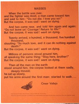 Masses.: Vallejo, Cesar, translated by Robert Bly.