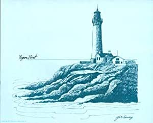 A Selection of California Lighthouse Drawings: from Discovering the California Coast, A Sunset Pi...
