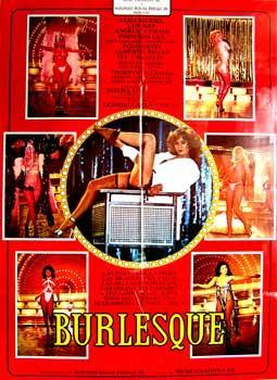 Burlesque. Con Alma Muriel, Lyn May, Angélica Chain, Princesa Lea. (Cartel de la pelí...