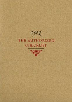 Oyez. The Authorized Checklist.