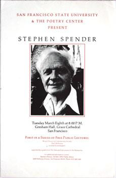 San Francisco State University & The Poetry Center Present Stephen Spender.