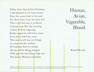 Human, Avian, Vegetable Blood.