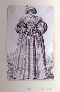 Le dame au masque. From La Noblesse series.: Callot, Jacques (After)