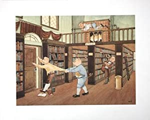 Pilferers will be Roasted. [Anthropomorphic pigs stealing books in the library ].
