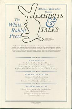 Albatross Bookstore Presents The White Rabbit Press Exhibits & Talks.