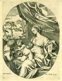 Virgin with Child.: Maratti, Carlo (Carolus Maratus).