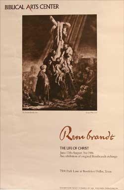 The Descent from the Cross. Poster for the Biblical Arts Center.