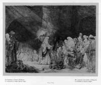 The presentation in the temple (an oblong print).