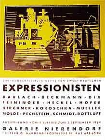 Expressionisten at the Galerie Nierendorf [poster].