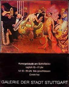 Kunstgebäude am Schloßplatz [poster].: Dix, Otto.