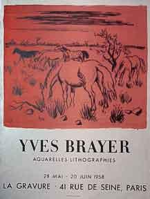 Yves Brayer Aquarelles-Lithographies.