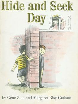 Dust-Jacket for Hide and Seek Day.: Zion, Gene and Graham, Margaret Bloy (illustrator).