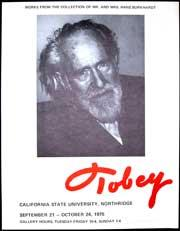 Portrait of Mark Tobey.