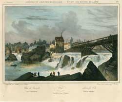 Pawtucket Falls (Etat de Rhode Island) from Amerique Septentrionale.: Milbert, Jacques