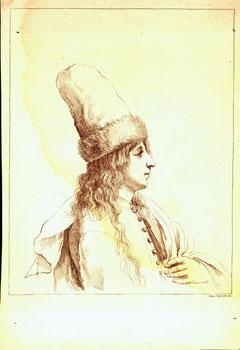 Engraving of Youth with Fur-lined Hat.: Zocchi, Giuseppe (engrav.).