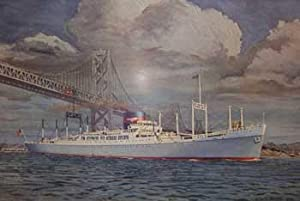 American President Lines. Round the World. S.S. President Garfield. San Francisco-Oakland Bay ...