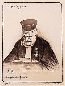 Les Gens de justice. Jacquinot-Godard.: Daumier, Honoré.