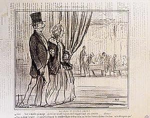 Exposition Universelle. Salle du buffet.: Daumier, Honoré.