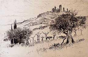 Towers of San Gimignano: Pennell, Joseph.
