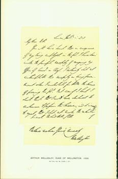 Arthur Wellesley, Duke of Wellington, Letter to General Rowland Hill, 1828; facsimile of manuscript...
