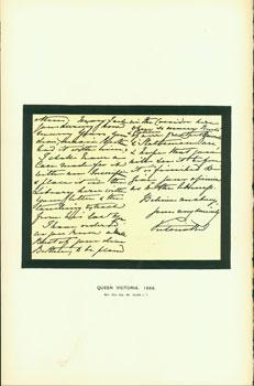 Queen Victoria, 1885; facsimile of manuscript. From Universal Classic Manuscripts: Facsimiles From ...