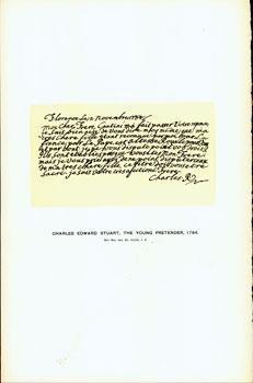 Charles Edward Stuart, The Young Pretender, 1784; facsimile of manuscript. From Universal Classic ...