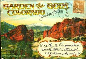 Garden of the Gods, Colorado Souvenir Folder [postcards].: H. H. Tammen.
