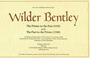 You Are Cordially Invited To Hear Wilder: Mills College Library