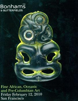 Fine African, Oceanic, and Pre-Columbian Art, February 12, 2010.: Bonham's & Butterfields (San ...
