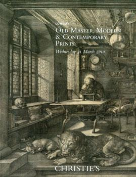 Old Master, Modern And Contemporary Prints, 31 March 2010.: Christie's (London).