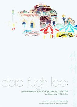 Dora Fugh Lee: Watercolors. Promotional poster.: Franz Bader Gallery; Dora Fugh Lee.