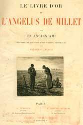 Le Livre d'Or de L'Angelus to Millet.: Jacque, Frédéric (Etcher)