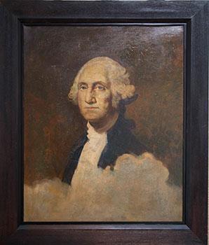 Portrait of George Washington.: Beyer, C.H. after Gilbert Stuart.