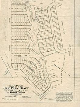 Subdivision Map of Oak Park Tract, Oakland,Alameda Co., Cal.
