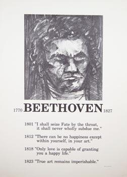 Portrait of Beethoven. Poster.