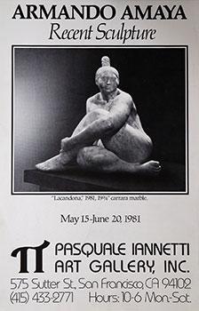 Poster for Recent Sculpture Exhibition of Armando Amaya.: Amaya, Armando.