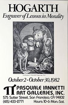 Poster for Hogarth, Engraver of Lessons in Morality.: Hogarth, William.