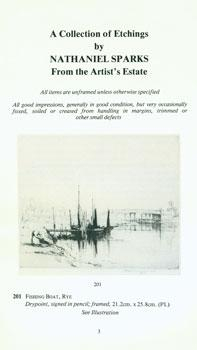 A Collection of Etchings by Nathaniel Sparks From the Artist's Estate. July 6th, 1981.: ...