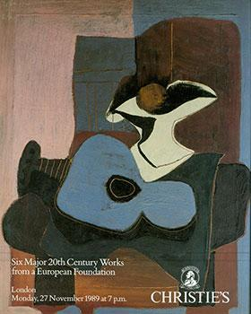 Six Major 20th Century Works From a European Foundation 27 November 1989.: Christie's (London).