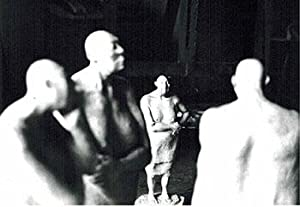 Photograph of the sculptures from the la serie del del manicomio. 1987.
