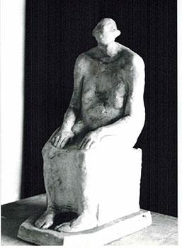 Photograph of the sculpture la ciega. 1988.