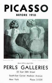 Picasso: Before 1910: March 27 - April 29, 1939.: Picasso, Pablo.