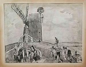 Study for the etching Black Mill, Winchelsea (Gaunt 135): Brangwyn, Frank